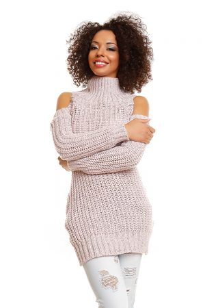 Hard-knitted jumper model 84343 PeeKaBoo