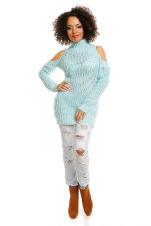 Hard-knitted jumper model 84344 PeeKaBoo