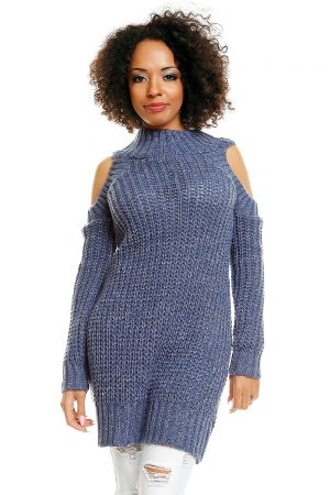 Hard-knitted jumper model 84345 PeeKaBoo