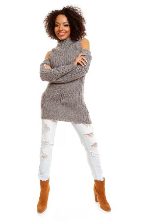 Hard-knitted jumper model 84346 PeeKaBoo