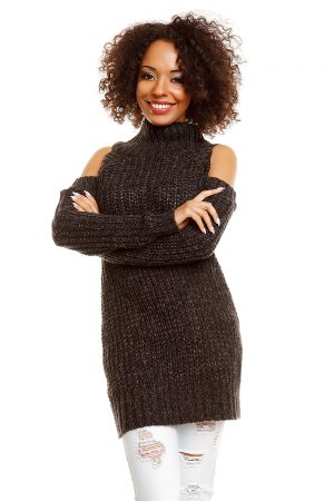 Hard-knitted jumper model 84347 PeeKaBoo