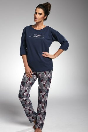 Pyjama, Komplet Piżama Damska Model Chic 144/175 Navy – Cornette